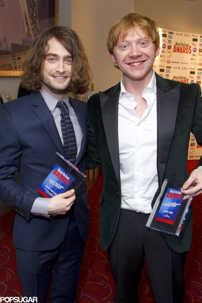 Daniel Radcliffe and Rupert Grint had a very hairy Harry Potter reunion, posing for their first photo together in three years.