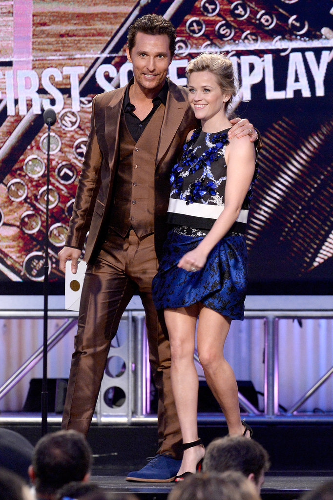 Matthew McConaughey wrapped his arm around Reese Witherspoon on stage at the Independent Spirit Awards.