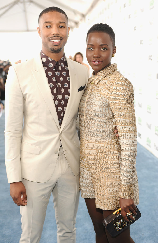 Lupita and Michael linked up again on the red carpet at the Independent Spirit Awards.