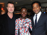 Brad Pitt, Lupita, and Chiwetel Ejiofor gathered at the 12 Years a Slave dinner during Oscars weekend.