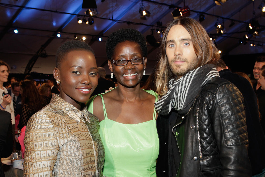 Jared took a photo with Lupita and her mother, Dorothy!