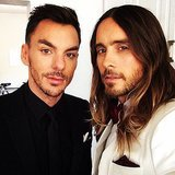 Jared and Shannon Leto snapped a selfie on their way to the show. Source: Instagram user jaredleto