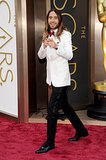 So This Is How Jared Leto Wears His Winning Locks to the Oscars
