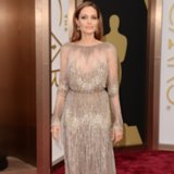 Angelina Jolie on the Oscars 2014 Red Carpet