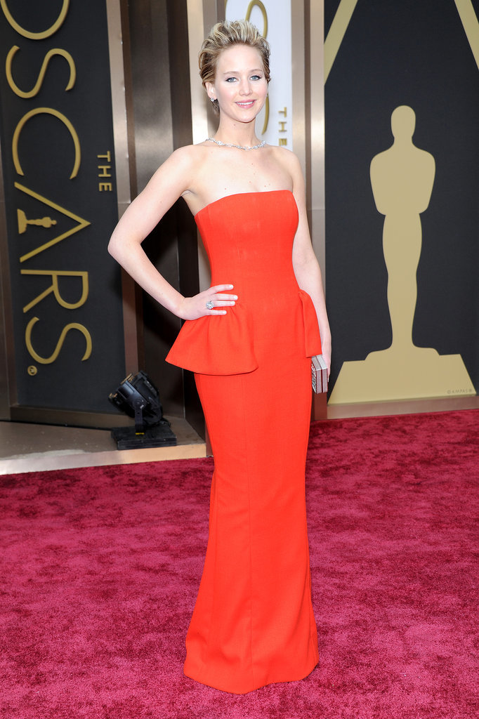 Jennifer Lawrence at the 2014 Oscars