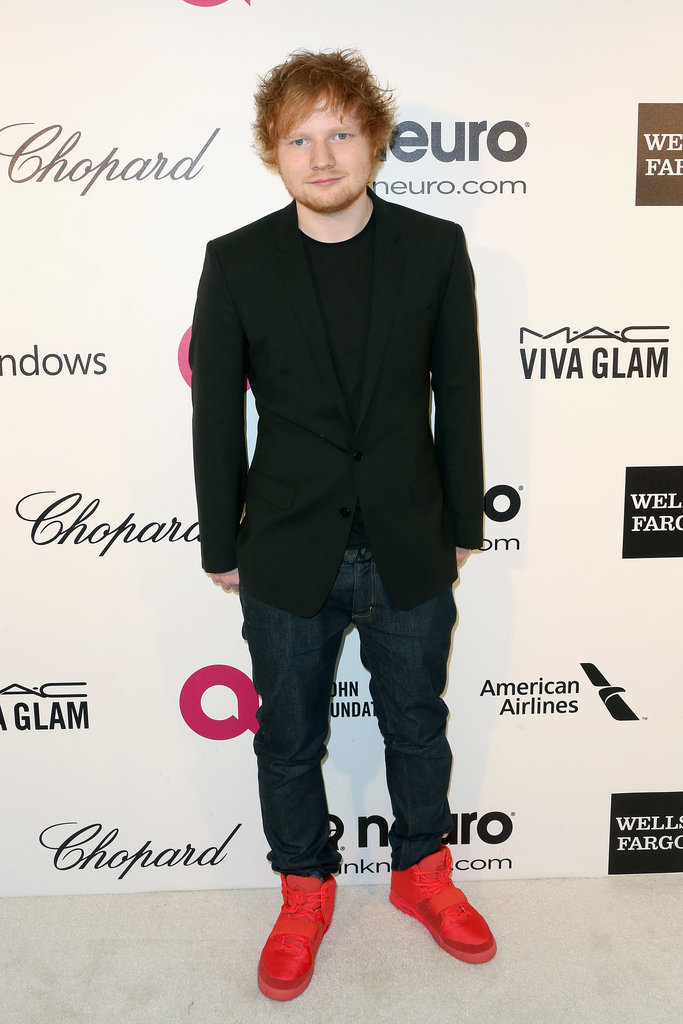 Ed wore red sneakers.