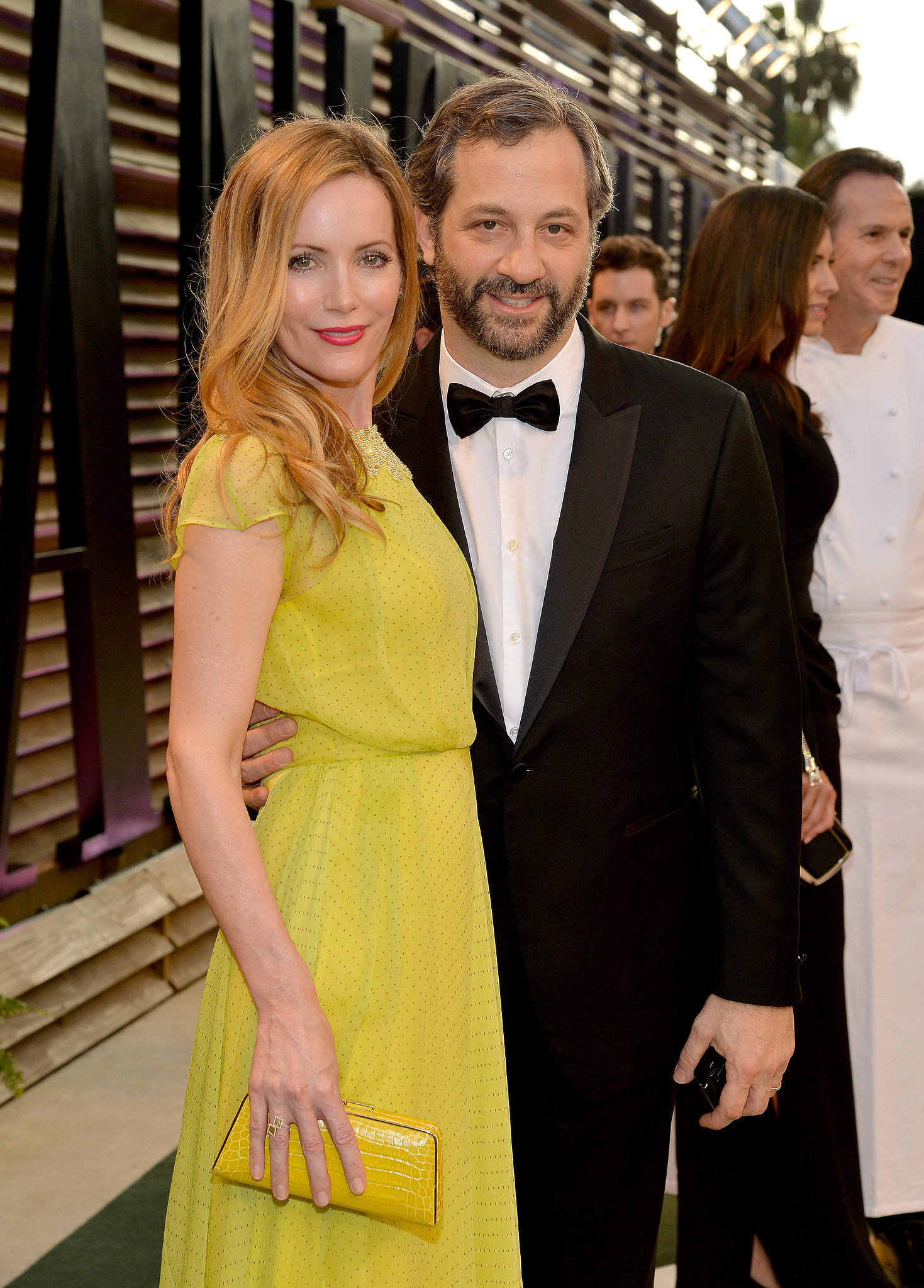 Leslie Mann and Judd Apatow arrived together for the Vanity Fair party.