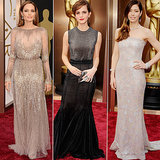 Metallic Dresses at Oscars 2014