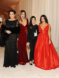 Kris, Khloé, Kourtney, and Kim posed together.
