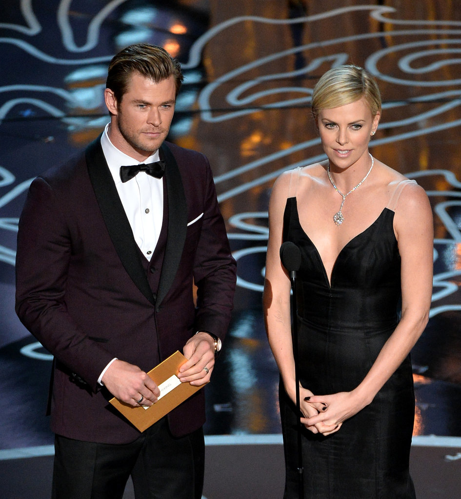 Chris Hemsworth and Charlize Theron took the stage together.