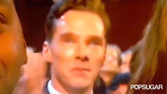 Benedict Cumberbatch Wept During Lupita's Acceptance Speech