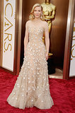 For the 2014 Oscars (and her big win!), Cate picked a crystal and sequin embroidered Armani Privé gown.