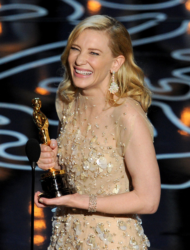 Cate Blanchett grinned as she accepted her best actress statue.