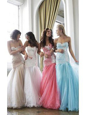 Bodice Mermaid Long Prom Dress