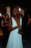 Lupita walked with her new award.