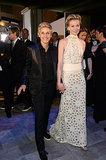 Ellen DeGeneres and Portia de Rossi walked into the ball hand in hand.