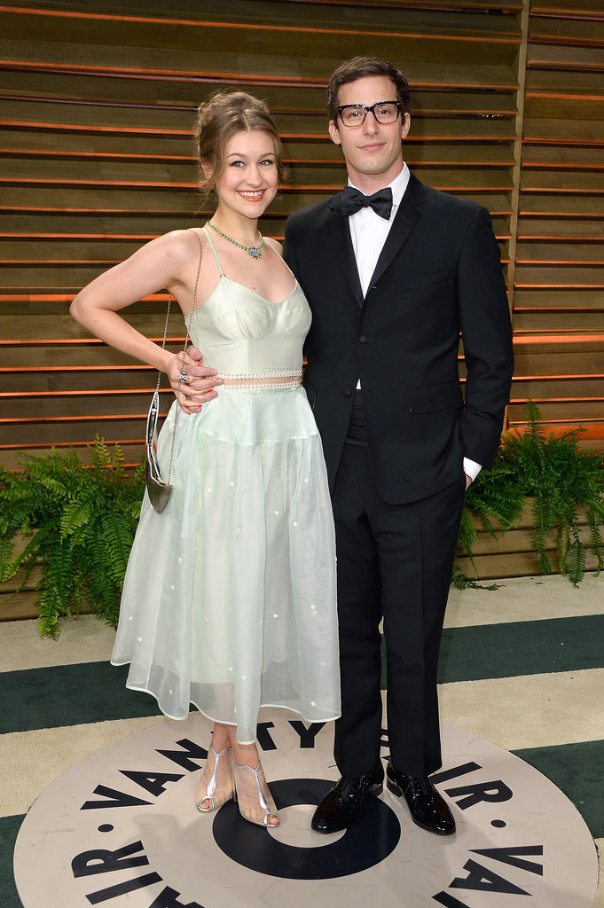 Andy Samberg and his wife, Joanna Newsom, looked cute.
