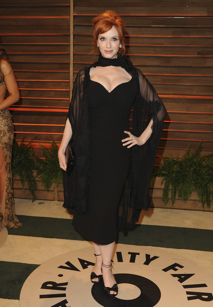 Christina Hendricks showed off her LBD.