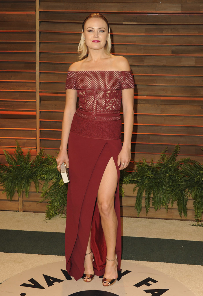 Malin Akerman rocked quite a leg slit.