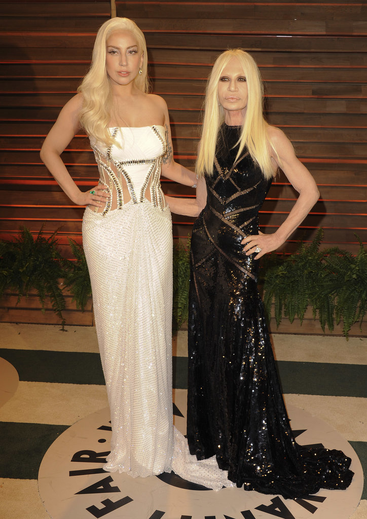Lady Gaga and Donatella Versace partied together.