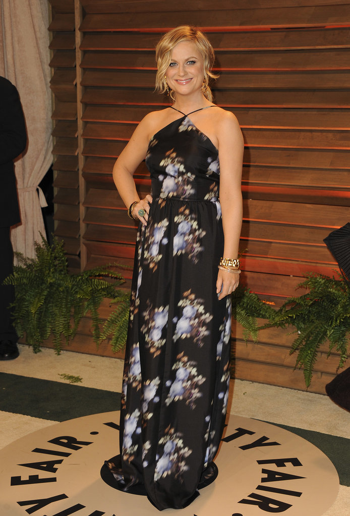 Amy Poehler was pretty in florals.