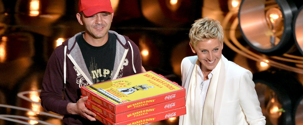 Everything to Know About Ellen's Pizza Stunt at the Oscars