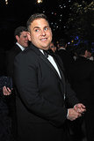 Jonah Hill mingled with guests.