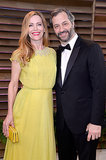 Judd Apatow and Leslie Mann were all smiles at the Vanity Fair afterparty.