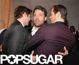 Ben Affleck got caught in a Hemsworth sandwich by brothers Liam and Chris — lucky guy!