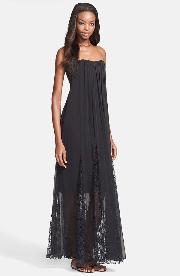 Alice + Olivia Francesca Black Lace Maxi Dress ($485)