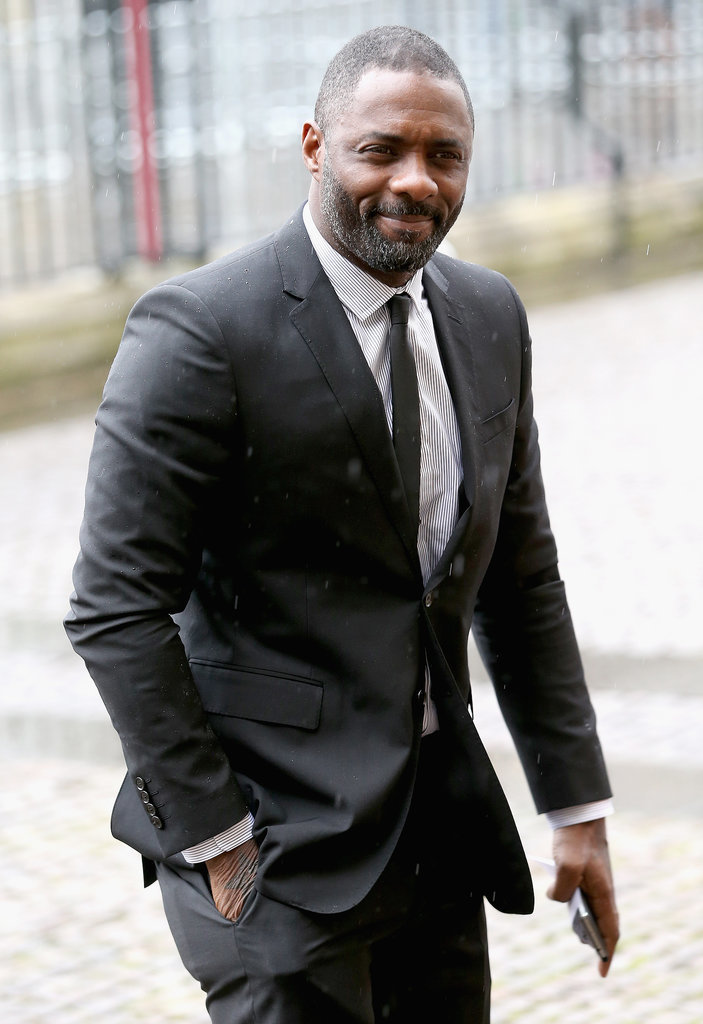 Idris Elba attended the service honoring Mandela.