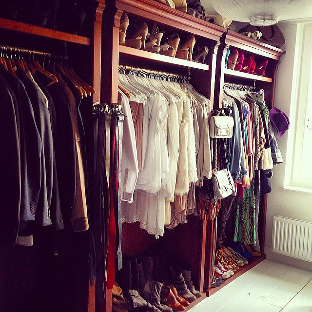 Check out how this Instagram user expertly arranges all her clothes and accessories. Even belts and purses are hung in a way that's convenient but creative.  Source: Instagram user tessevenboer