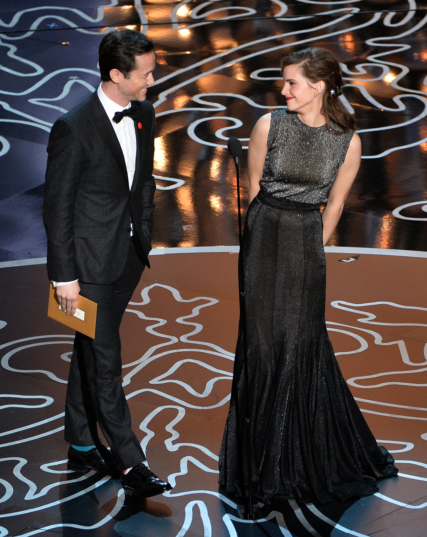 Joseph Gordon-Levitt and Emma Watson shared an adorable moment when they took the stage to present the award for