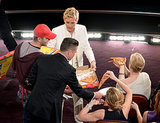 Brad Pitt, Julia Roberts, and Meryl Streep got in on the pizza party action during the show.