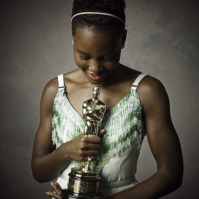 Lupita looked gorgeous soaking in her moment. 