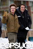Life costars Robert Pattinson and Dane DeHaan laughed on their Ontario set on Tuesday.
