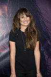 Lea Michele was all smiles at a New Jersey signing of her new album Louder on Monday.