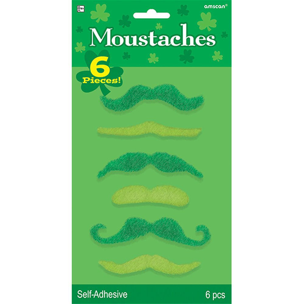 St. Patrick's Day mustaches ($4)