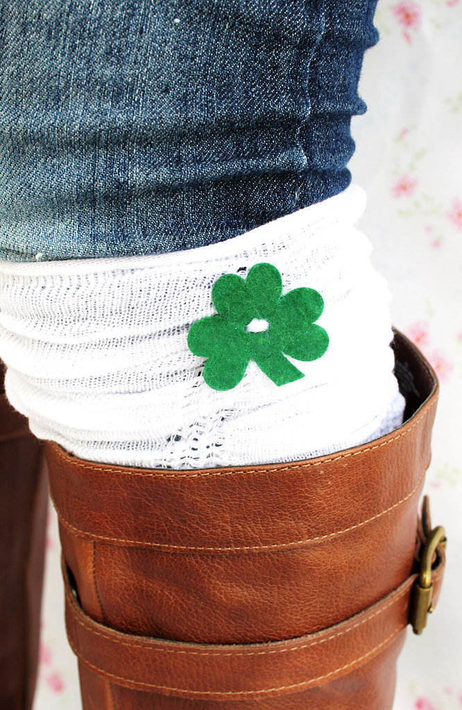 St. Patrick's Day ruffle boot cuffs ($17)