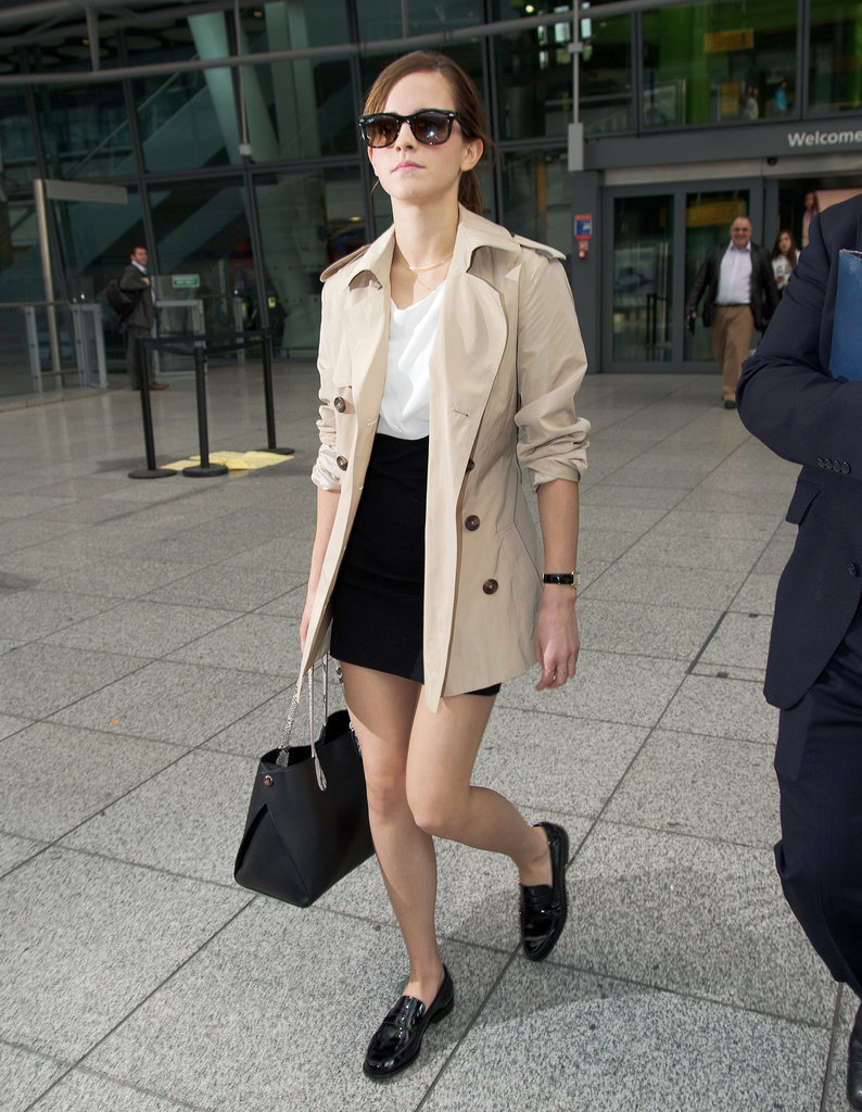 On Wednesday, Emma Watson landed in London.