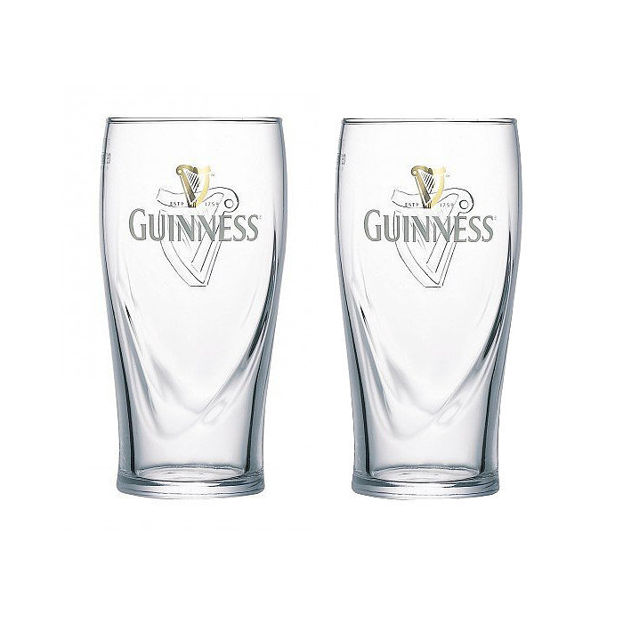 Pour the legendary Irish brew with these Guinness pint glasses ($25).