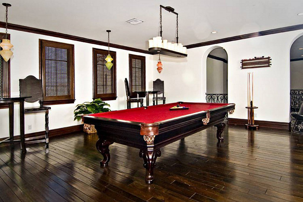 An extra game room is large enough for a pool table and more.  Source: Trulia