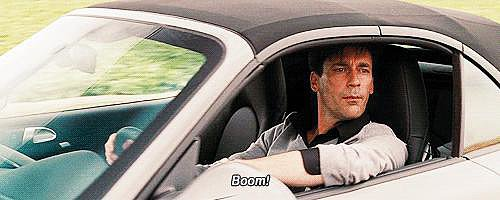 Jon Hamm driving in Bridesmaids is just hilarious.