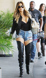 Khloe Kardashian Shows Skin in Ripped Jean Shorts, Stiletto Boots: Picture