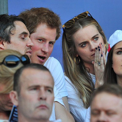 Prince Harry and Cressida Bonas at Rugby Match Together