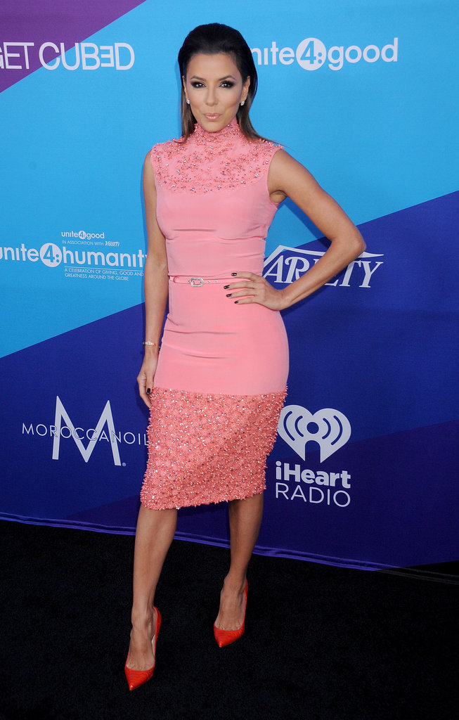 Eva Longoria looked pretty in pink — Georges Hobeika Couture, to be exact —at a Unite4good event in LA earlier this year.