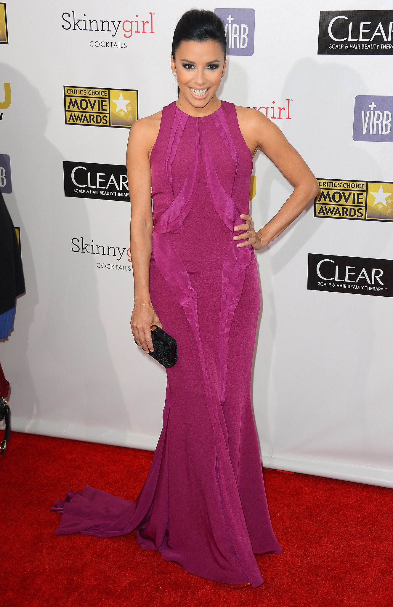 An ethereal Monique Lhuillier gown for the 2013 Critics' Choice Awards.