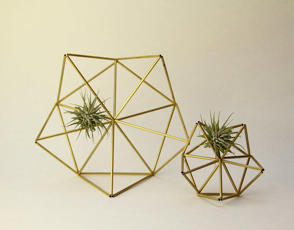 We couldn't help but do a double take when we first saw these brass planters ($48) appear in our Etsy feed. Not only are they a unique way to display succulents, but they're al