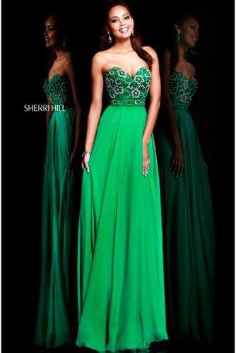 Sherri Hill 8545 Emerald Sweetheart 2014 Prom Dress