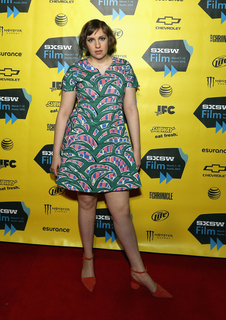 Lena Dunham struck a pose on Monday before her Film Keynote speech.